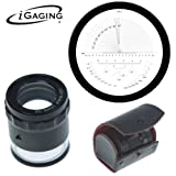 iGaging 36-LED10 Stand Measuring Magnifier, Loupe 10X with Scale LED Lighted Illuminated