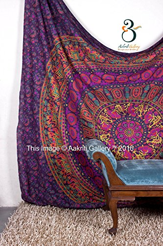 tapestry-queen-purple-flower-beautiful-artwork-mandala-mandala-beach-bedspread-intricate-indian-beds