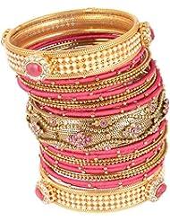 Nakshatra Collection Gold Metal Bangle Set For Women (23 Nos.) (UBAS95)
