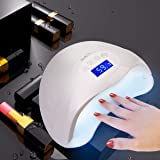 48W LED Curing Light Nail Art Lamp For Dry Nail with 30s, 60s, 99s Time Settings and LCD Screen Touch control for All Gels Polishes