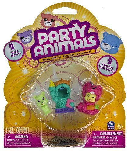 [Party Animals 2 Mini Bears Liberty of World Tour and Bunny of Pet Party Collection by Party Animals] (Liberty Bell Costumes)