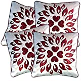 Belive-Me Royal Velvet White Cushion Covers (Set Of 4)