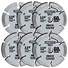 6 PC 3-3/8-inch #60 grit Saw Blades for Rockwell Versa Cut. #60 grit Blades Designed for the Rockwell Versacut.