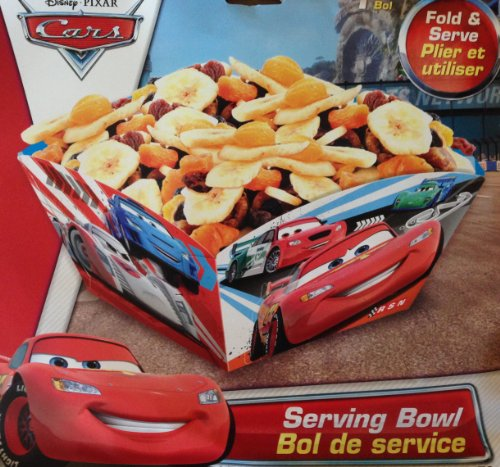 Disney & Pixar CARS LIGHTNING McQUEEN Party Fold & Serve SERVING BOWL (10 Inch) - 1