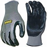 DeWalt Nitrile DPG66 General Purpose Glove - Grey/Black, Large