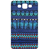 Fabric Tribal Pattern Silver Back Cover Bling Case for Samsung Galaxy S3 / SIII / I9300