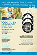 Dynotag® Web/GPS Enabled QR Code Smart Round Laminated Synthetic Tag. 3 unique tags. Property Tag, Pet Tag - Multiple Uses. Contains No GPS.