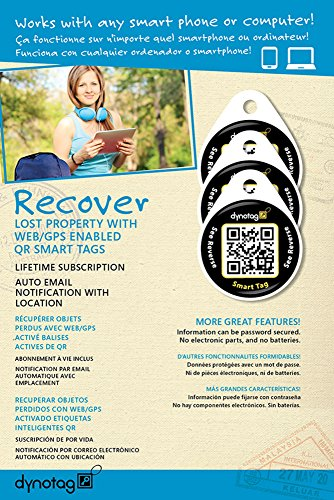 dynotag-web-gps-enabled-qr-code-smart-round-laminated-synthetic-tag-3-unique-tags-property-tag-pet-t