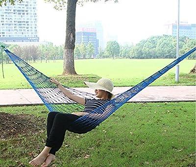 moistmax (TM) NEU Parachute Outdoor Nylon Stoff Hängematte zusammenklappbar Hängematte Net Bett Camping Sleeping Hängematte 270x 80cm tonsee machen von MoistMax auf Gartenmöbel von Du und Dein Garten