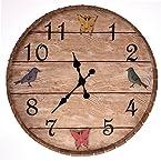 Bird and Butterfly Barrel Wall Clock