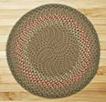 Earth Rugs Green/Burgundy Round: 5 ft...