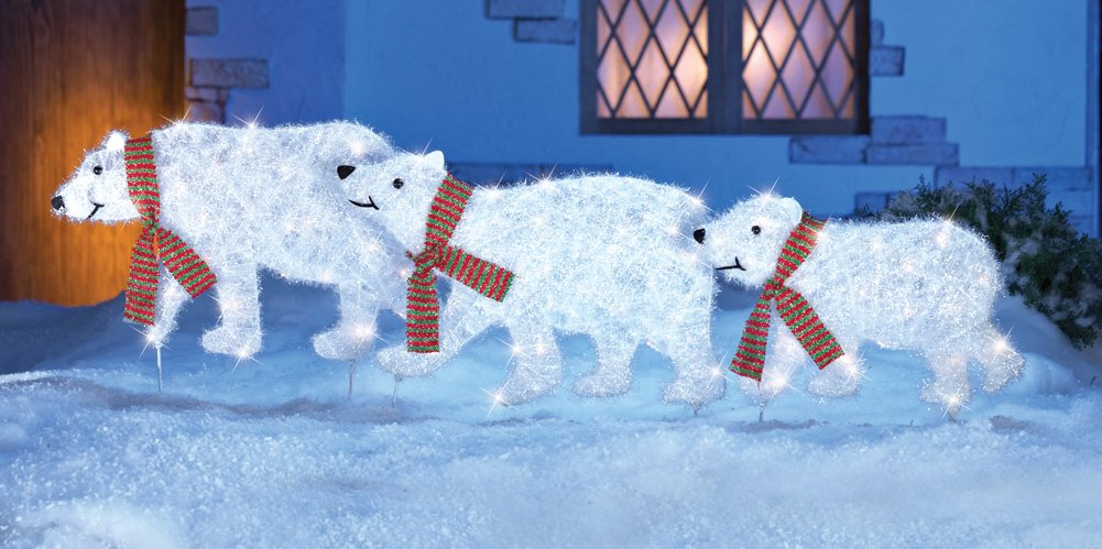 polar bear outdoor yard displays christmas wikii - Outdoor Polar Bear Christmas Decorations
