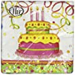 Ideal Home Range Birthday Cake, 80 Luncheon Napkins