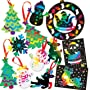 Festive Scratch Art Value Pack - Christmas Craft Activity for Children to Decorate Personalise and Hang on Xmas Tree. Save 27%!