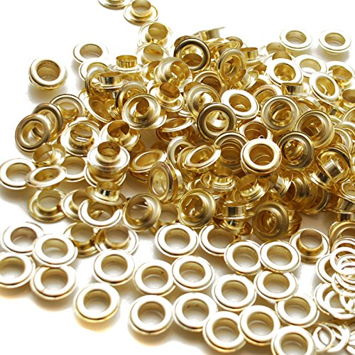 Brass 2000 #2 3/8 Grommets Machine Washers Eyelets Hang Sign