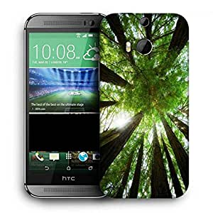 Snoogg Multiple Trees Printed Protective Phone Back Case Cover For HTC One M8