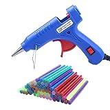 COCODE Hot Glue Gun with 60 Mini Glitter Hot Melt Glue Sticks 0.27