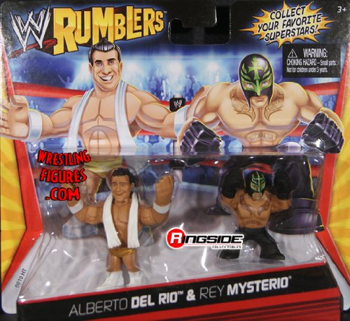 ALBERTO DEL RIO & REY MYSTERIO - WWE RUMBLERS TOY WRESTLING ACTION FIGURES by Mattel