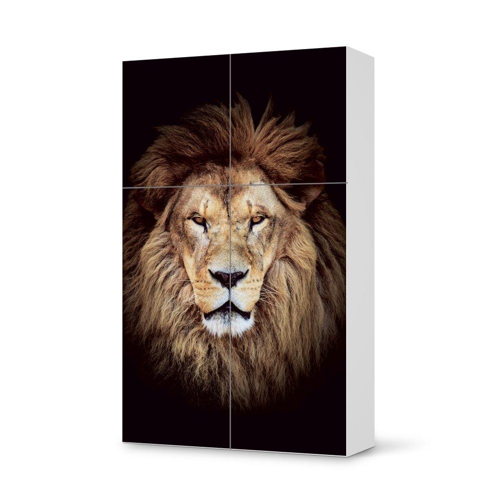 Folie IKEA Besta Schrank Hochkant 4 Türen (2+2) / Design Aufkleber Wild Eyes / Dekorationselement günstig kaufen