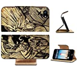 Death Fantasy Art Digital Artwork Coffin Apple iPhone 5 / 5S Flip Cover Case with Card Holder Customized Made to Order Support Ready Premium Deluxe Pu Leather 5 3/16 inch (132mm) x 2 11/16 inch (68mm) x 9/16 inch (14mm) MSD iPhone 5 Professional Cases Touch Accessories Graphic Covers Designed Model Folio Sleeve HD Template Designed Wallpaper Photo Jacket Wifi 16gb 32gb 64gb Luxury Protector Wireless Cellphone Cell Phone