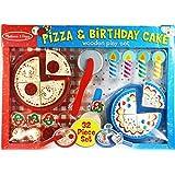Melissa & Doug Pizza & Birthday Cake Wooden Play Set