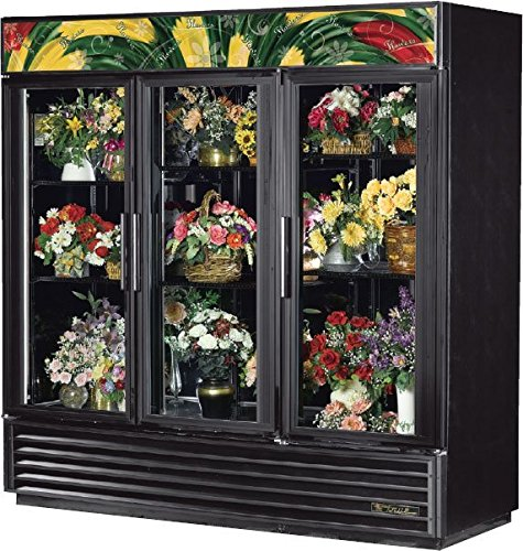 True Mfg GDM-72FC-LD, 3 Door, 72 cu ft, Glass Door Floral Case (Floral Refrigerator Cases compare prices)