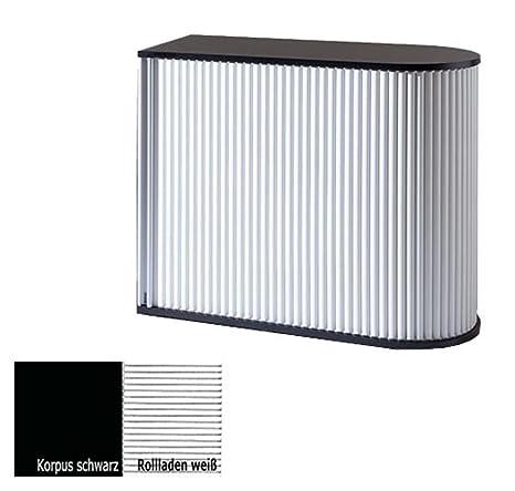 KLENK Collection - Sideboard - Universal-Rollladenschrank schwarz - weiß