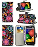 New Stylish Pattern Modern Print Design Wallet Flip Case Cover with Integrated Stand for HTC Desire 510 / A11 - Jellyfish Design Case