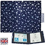 MIDNIGHT STARS Holographic Fabric Blue Badge Holder & Disabled Parking Permit Wallet