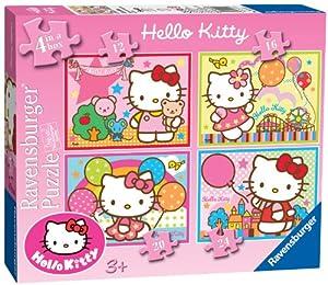 Ravensburger - Juego de 4 puzzles, diseño de Hello Kitty (7256)