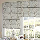Presto Bazaar Gold N Beige Floral Tissue Embroidered Window Blind (60 Inch X 44 Inch)