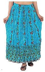 Magnus Women's Long Skirt (SKT474, Blue, L)