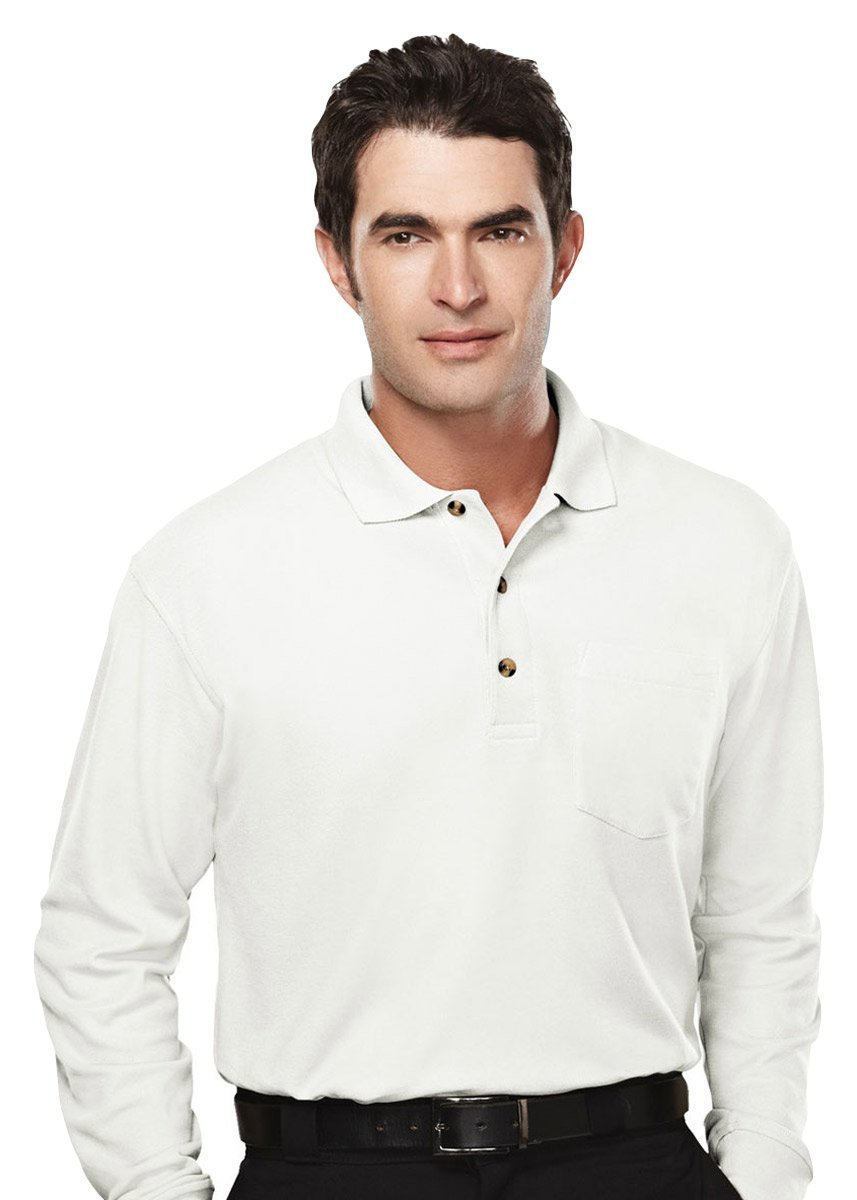 Pique Knit Tri Mountain Mens Golf Shirt