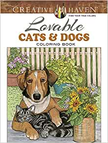 Amazon Creative Haven Lovable Cats And Dogs Coloring
