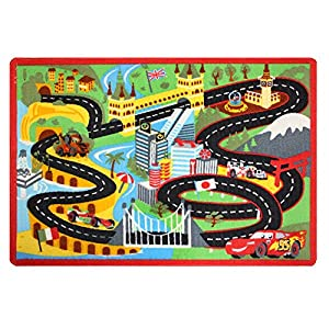 Amazon Com Disney Pixar Cars Racing Interactive Game Rug