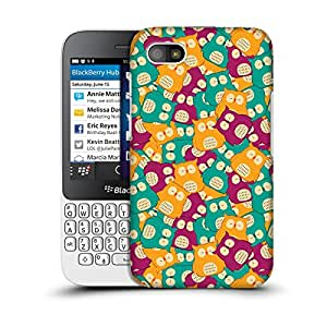 MobileGlaze Designs Kawaii Owl Print Owl Doodle Hard Back Case Cover for BLACKBERRY Q5
