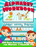 img - for Alphabet Workbook: Alphabet Writing Practice (Preschool Workbook for Writing & Drawing) book / textbook / text book