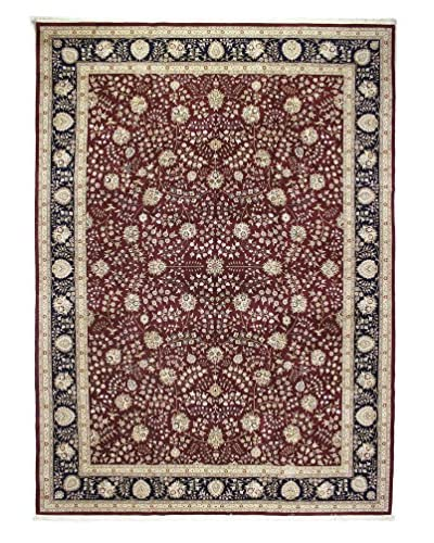 Bashian Rugs One-of-a-Kind Hand Knotted Wool/Silk Rug, Red, 10' 9 x 14' 9
