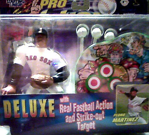 Pedro Martinez Deluxe Action Figure with Real Fastball Action and Strikeout Target - Starting Lineup Pro Action 1999 Baseball Series