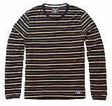 (アバクロ)正規 メンズ 長袖Tシャツ ボーダー abercrombie&fitch アバクロンビー&フィッチ 124-1646all (L, 001navy) [並行輸入品]