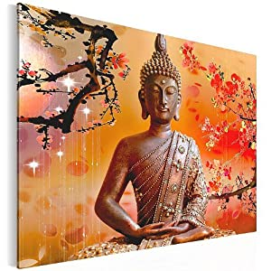 bilder kunstdrucke prestigeart 5006135a bild auf leinwand buddha 80 x 57 5 cm. Black Bedroom Furniture Sets. Home Design Ideas