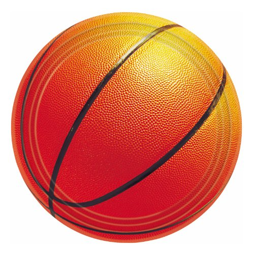 1 X Basketball Fan - Dessert Plates Party Accessory