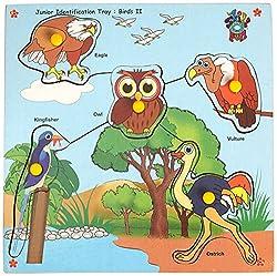 Skillofun Junior Identification Tray Birds II with Knobs, Multi Color
