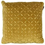 The Decor Mart - Single Cushion Cover - Velvet - Embroidered - Lime Green - 15 X 15 Inch