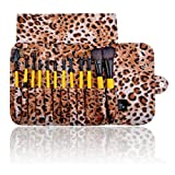 SHANY Cosmetics Urban Gal Collection Brush Set (12 Piece Natural Cosmetics Brushes With Leopard Magnetic Pouch...
