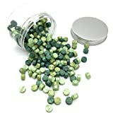 Wax Seal Beads, Moorlando 200Pcs Wax Sealing Beads for Wax Stamp Sealing, Perfect for Cards, Envelopes, Invitations, Wine Packages, Letter Sealing (Green Mix) (Color: Green Mix)