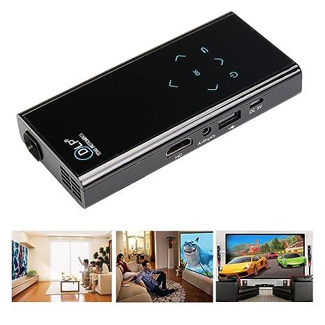 Flylinktech E06S WIFI Mini Vidéoprojecteur Portable DLP Bluetooth Android 4.4.2 Pico Projecteur De Poche Interface Entrée HDMI/ AV/ USB/ TF