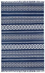 Blue Geo Cotton (3\'x5\') Rug