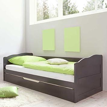 Bett mit Gästebett Grau Pharao24