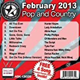 All Star Karaoke February 2013 Pop and Country Hits B (ASK-1302B)